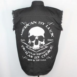 Outlaw Threadz American By Luck Black Button Shirt